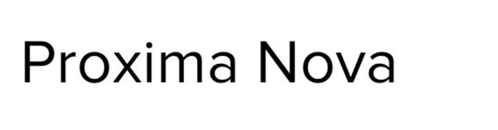typographie proxima nova