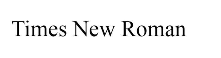 typographie times new roman