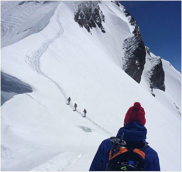 ascension du mont blanc par les apprentis