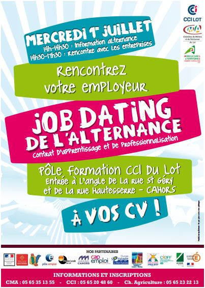 affiche du job-dating de l'alternance à cahors