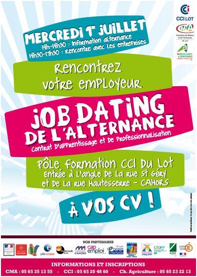 affiche du job-dating de l'alternance à cahors