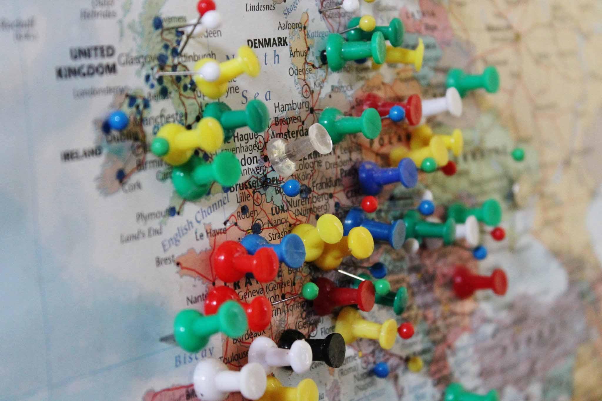 programme leonardo - carte de l'europe