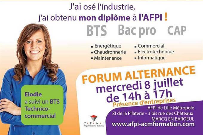 Forum alternance AFPI mercredi 8 juillet