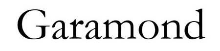 Typographie Garamond dans une lettre de motivation