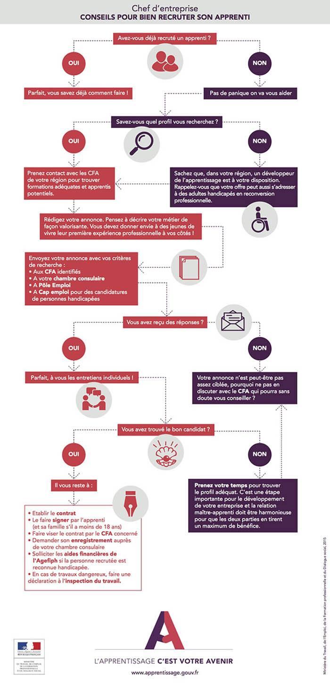 Recrutement apprentissage infographie - Conseils pour recruter un apprenti