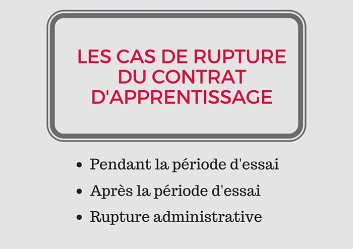 Rupture Contrat D Apprentissage Comment Faire