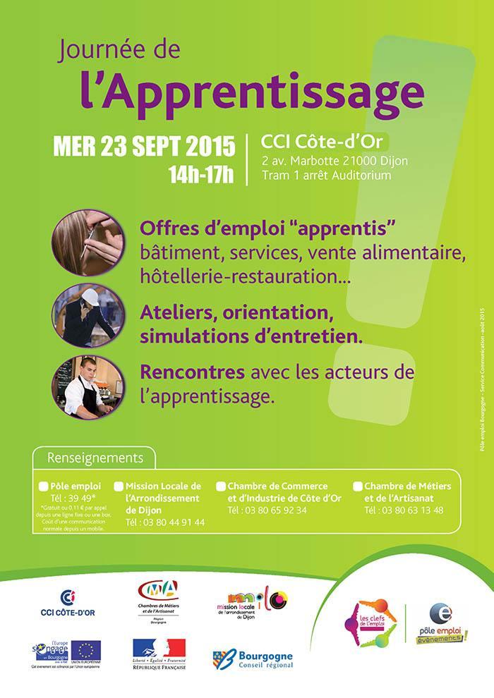 Journée de l'apprentissage à Dijon mercredi 23 septembre 2015