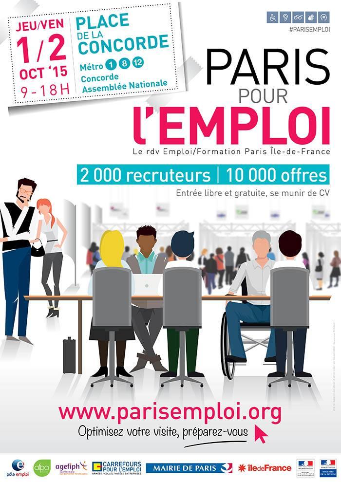 Paris pour l'emploi 2015 affiche - 13 ème édition