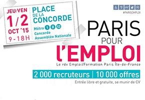 Paris pour l'emploi - Les 1er et 2 octobre 2015