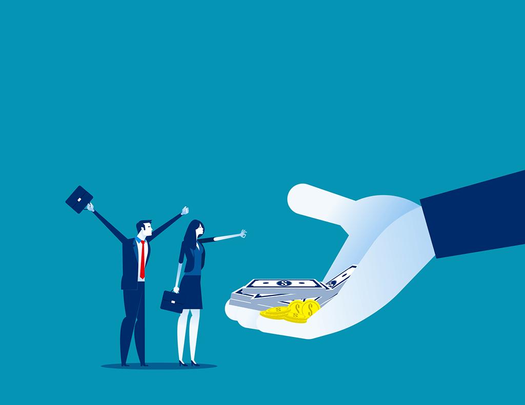 Un homme et une femme touchent un salaire d'apprenti