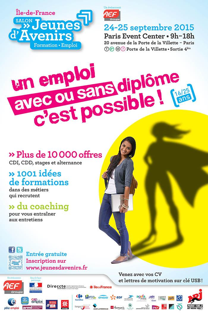Salon jeunes d 39 avenirs ile de france les 24 et 25 septembre - Salon emploi ile de france ...