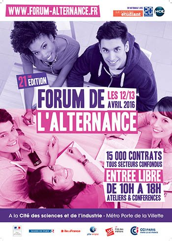 21ème édition du forum de l'alternance à Paris les 12 et 13 avril 2016