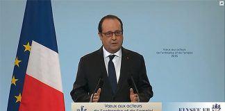 François hollande lors de son discours du 18 janvier