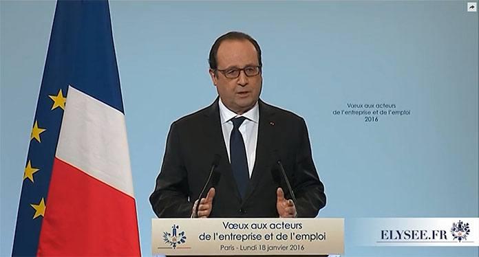 François hollande lors de son discours du 18 janvier - Apprentissage et plan d'urgence pour l'emploi