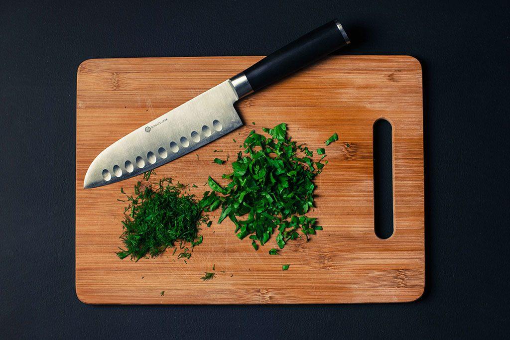 Un couteau de cuisinier