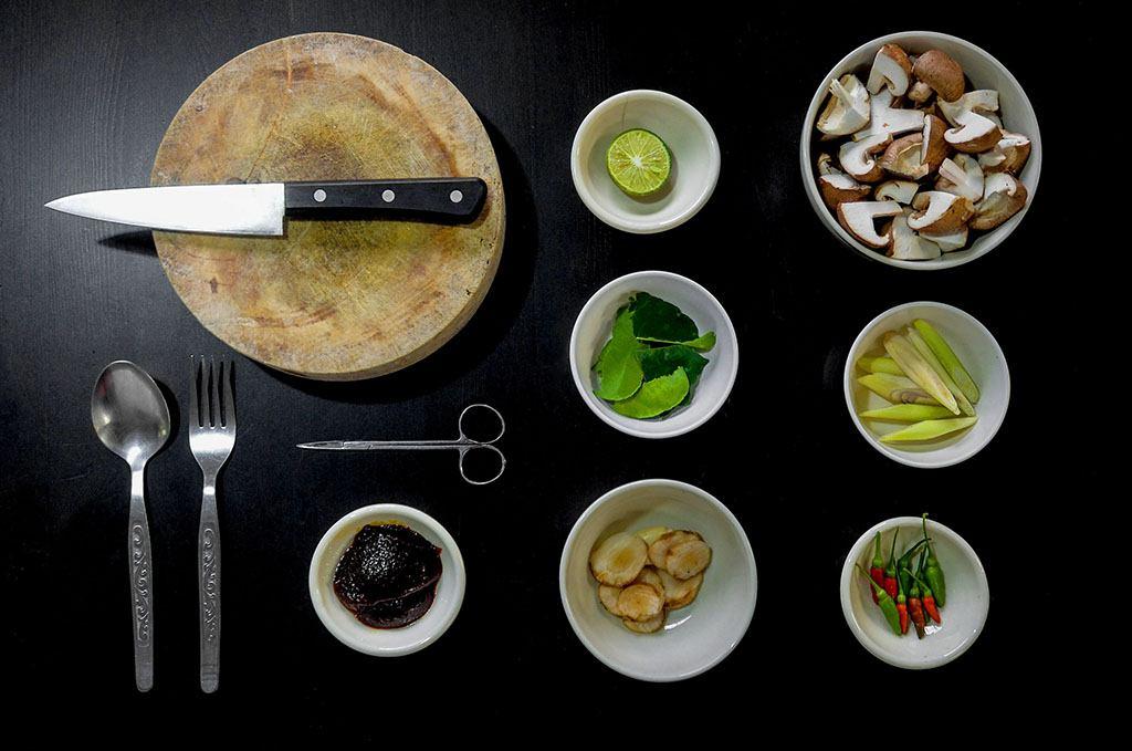 Des plats préparés par un cuisinier