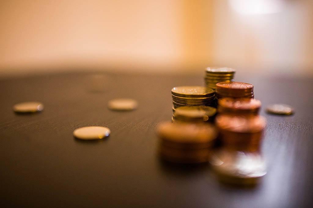 Des tas de pièces de monnaie